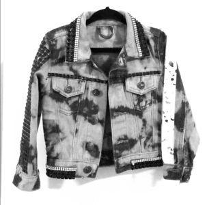 2T custom denim jacket. One of a kind made
